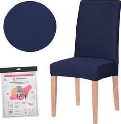 SPRINGOS Pokrowiec na krzesło uniwersalny granatowy UNIWERSALNY