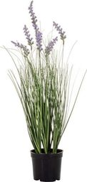 SPRINGOS Sztuczna trawa w doniczce kwiaty lawenda 60 cm UNIWERSALNY