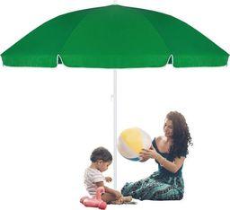 SPRINGOS Parasol plażowy zielony 240 cm UNIWERSALNY