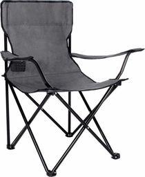 SPRINGOS Krzesło turystyczne składane wędkarskie szare UNIWERSALNY