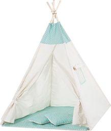 SPRINGOS Namiot Tipi dla dzieci wigwam miętowy w kropki UNIWERSALNY