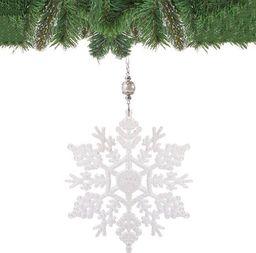 SPRINGOS Zawieszki choinkowe biała gwiazdka na choinkę 17 cm UNIWERSALNY