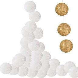 Lampki choinkowe SPRINGOS Lampki dekoracyjne popękane balls 10 LED 10 kul białe UNIWERSALNY