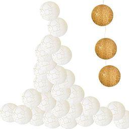 Lampki choinkowe SPRINGOS Lampki dekoracyjne popękane balls 10 LED 10 kul jasnożółte UNIWERSALNY
