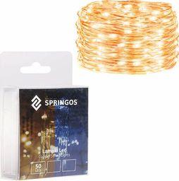 Lampki choinkowe SPRINGOS Lampki dekoracyjne 50 LED druciki mikro na baterie UNIWERSALNY