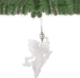 SPRINGOS Zawieszka choinkowa biały aniołek na choinkę 13 cm UNIWERSALNY