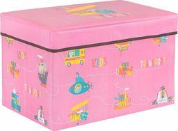 SPRINGOS Pojemnik na zabawki 37l ogranizer do przechowywania różowy UNIWERSALNY