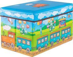 SPRINGOS Pojemnik na zabawki 37l ogranizer do przechowywania niebieskie-zielony UNIWERSALNY