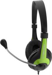 Słuchawki z mikrofonem Esperanza EH158G Zielone (5901299908716)