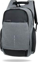 Plecak R-BAG Plecak męski na laptopa 13-15,6'' z USB Hopper Black