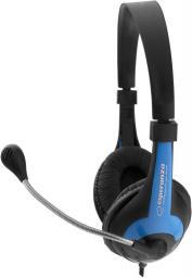 Słuchawki z mikrofonem Esperanza EH158B Niebieskie (5901299908709)