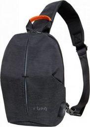 Plecak R-BAG Plecak męski na jedno ramię z USB Photon black
