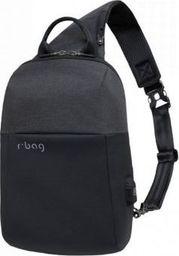 Plecak R-BAG Plecak męski na tablet z USB Magnet Black rBAG luksusowy