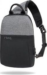 Plecak R-BAG Plecak męski na tablet z USB Magnet Gray