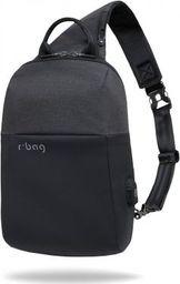 Plecak R-BAG Plecak męski na tablet z USB Magnet Black