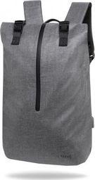 Plecak R-BAG Plecak męski na laptop 13-15,6'' z USB Hoper GREY rBAG luksusowy szary