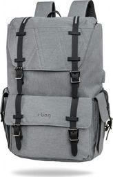 Plecak R-BAG PLECAK MĘSKI LUKSUSOWY BIZNESOWY R-BAG NA LAPTOP 15' szary grey