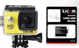 Kamera SJCAM Kamera INTERNETOW SJCAM SJ4000 Żółta + Akumulator