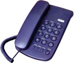 Telefon przewodowy Mescomp Leon granat (MT 508)