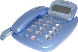 Telefon przewodowy Mescomp Oliwia niebieska  (GT-047V)