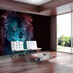 Artgeist Fototapeta - Abstrakcyjny lew - tęcza uniwersalny