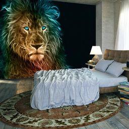 Artgeist Fototapeta - Abstrakcyjny lew uniwersalny