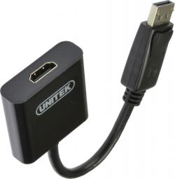 Adapter AV Unitek DisplayPort - HDMI 0.1m czarny (Y-5118DA)