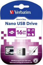 Pendrive Verbatim Nano Store 'n' Stay 16GB (97464)