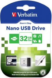 Pendrive Verbatim Nano Store 32GB, Czarny (98130)