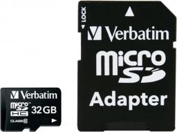 Karta Verbatim MicroSDHC 32 GB Class 10  (44083)