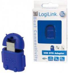 Adapter USB LogiLink Micro USB - USB Niebieski (AA0066)