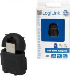 Adapter USB LogiLink Micro USB - USB Czarny (AA0062)