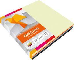 Akson Papier do origami Fluo i Pastel 10x10 cm 100 szt Mix kolorów uniw