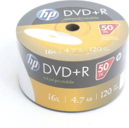 HP DVD+R 4.7GB 16X WHITE FF  InkJet Printable, 50 szt.