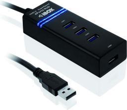 HUB USB iBOX 3.0 Czarny 4-Porty (IUH3FB)