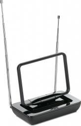 Antena RTV One For All wewnętrzna ze wzmacniaczem 36 dB, do 15 km od nadajnika, czarna (ONE FOR ALL - SV9125)