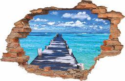 e-druk NAKLEJKI NA ŚCIANĘ 3D CEGŁA Z WIDOKIEM morze