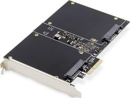 "Kontroler Digitus Karta rozszerzeń (Kontroler) DIGITUS RAID 2x SATA III SSD/HDD PCIe 2.0, 2.5"" HDD/SSD"