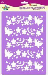 Titanum TITANUM Szablon A4 - Kwiaty i motyle większe 22923 uniw