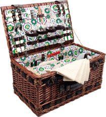 Artequipment Wiklinowy Kosz piknikowy Luksus dla 4 osób uniw