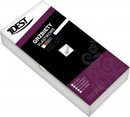 Idest Grzbiety plastikowe do bindowania 6mm biały 100szt. (BEGGP060WHPX0100001)
