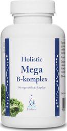 Holistic Holistic Mega B-Komplex Witaminy Z Grupy B Zestaw Witamin Metylokobalamina B12 Biotyna Kwas Foliowy Witamina B1 B2 B3 B6