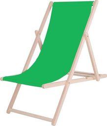 SPRINGOS leżak ogrodowy drewniany z materiałem, zielony, uniwersalny (29381)