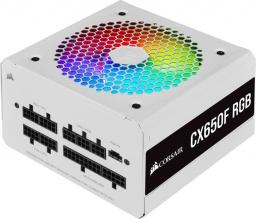 Zasilacz Corsair CX650F RGB 650W Biały (CP-9020226-EU)