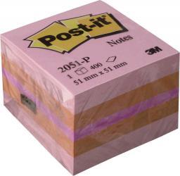 Blok biurowy Post-it Bloczek samoprzylepny 51x51/400K różowy (FT510091737)
