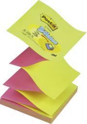 Blok biurowy Post-it Bloczek samoprzylepny 76x76/100K harmonijkowy żółto/różowy (FT510027590)