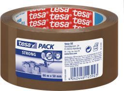 Tesa Taśma pakowa cichoodwijalna tesapack® STRONG 66m x 50mm, brązowa (57168-00000-05)