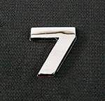 Emblemat / naklejka - chrom cyfra ''7'' uniwersalny