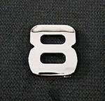 Emblemat / naklejka - chrom cyfra ''8'' uniwersalny