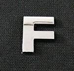 Emblemat / naklejka - chrom litera ''F'' uniwersalny